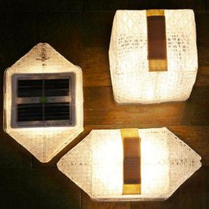 lampe recyclée solaire solarpuff jardin deco