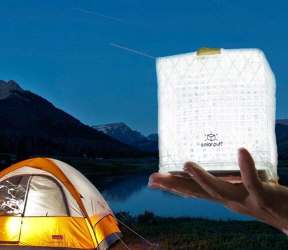 lampe solaire camping solarpuff