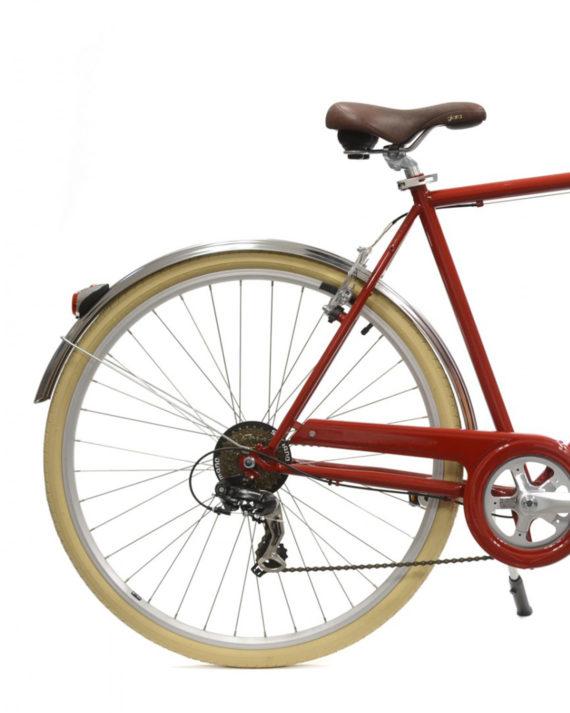 Vélo de ville Coffee S6 Bordeaux homme