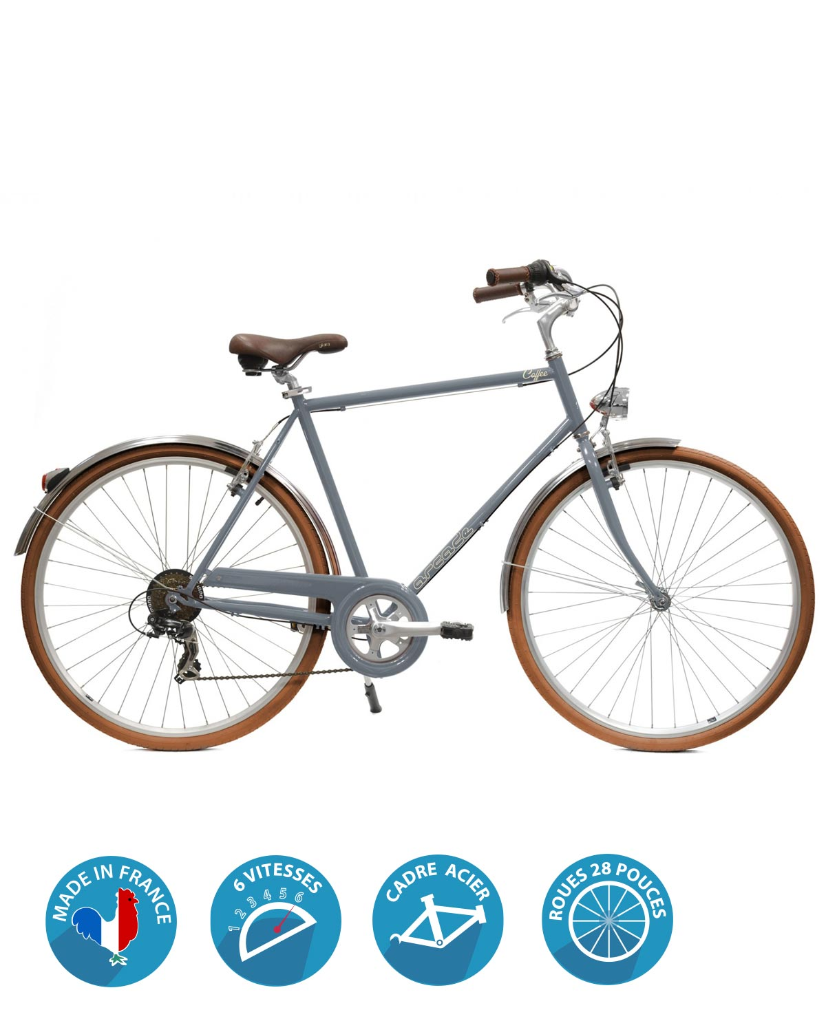vélo homme coffee S6 arcade cycles