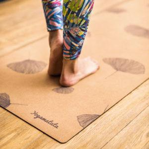 tapis de yoga yogamata ginkgo