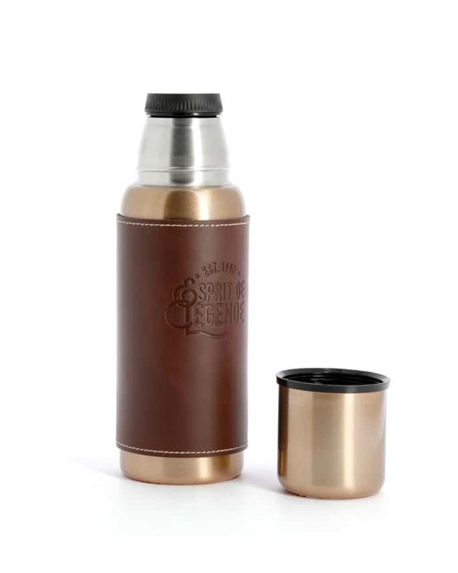 Bouteille Isotherme 500ml Inox et Cuir by N&D