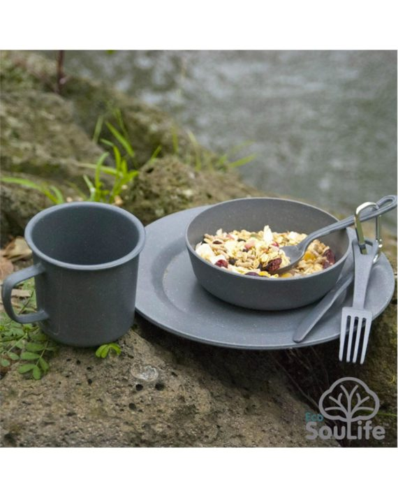Kit vaisselle camping biodégradable by EcoSouLife