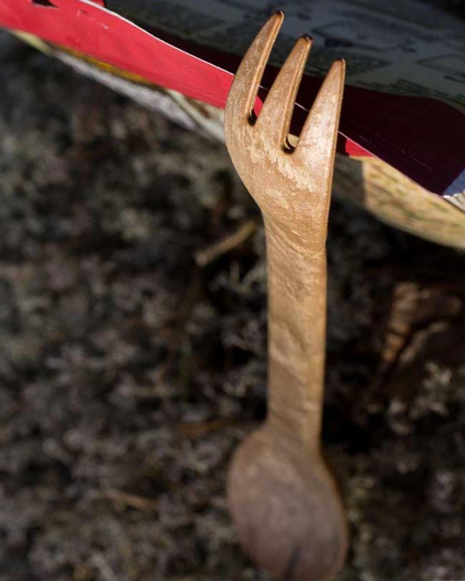 Pack 2 cuillère/fourchette écologique en kareline by Kupilka