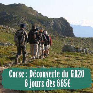 GR20 en Corse 6 jours pas cher