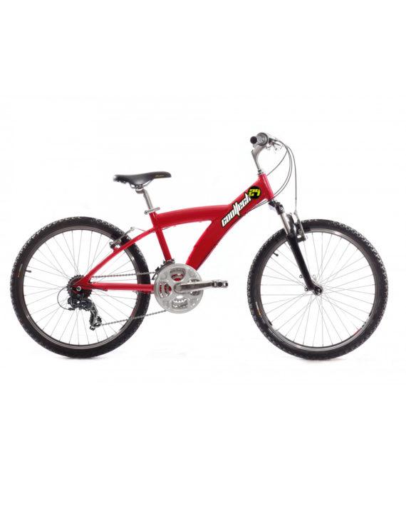 Vélo VTT enfant Cooltech 24 pouces Spring Rouge fourche suspendue 21 V
