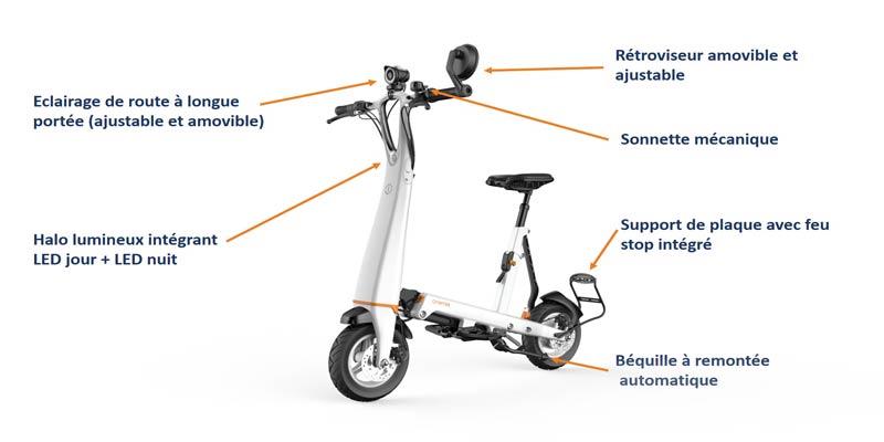 e scooter électrique homologué ecc halo city