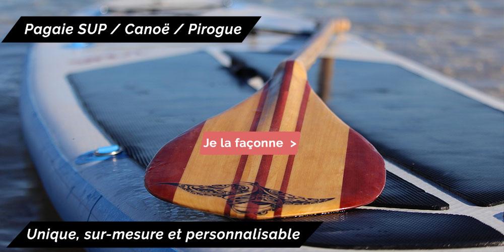 Pagaie SUP paddle Pirogue sur-mesure et personnalisable