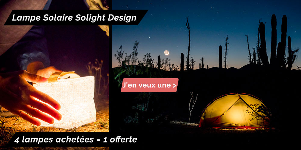 lampe solaire solight design solarpuff soldes
