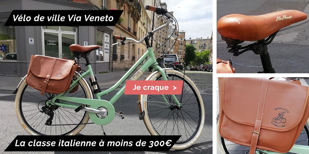 vélo de ville pas cher Via Veneto Canellini fabriqué en italie