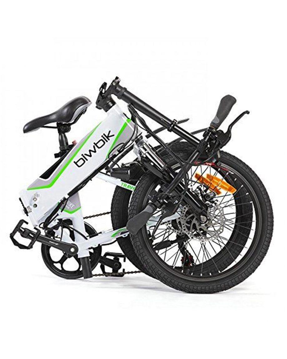 Vélo électrique blanc pliable Traveller à assembler Biwbik
