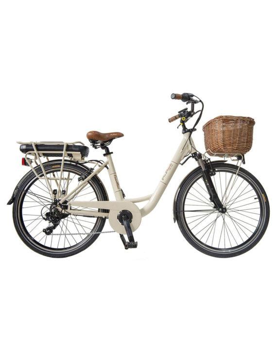 Vélo Citybike Byciclette CTB Femme Dame Vintage Retro Via Veneto Aluminium Blanc