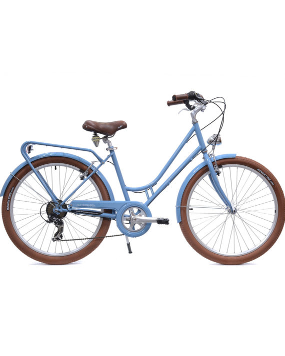 Vélo de ville Renaissance 6 Vitesses fabriqué en France par Arcade Cycles Bleu