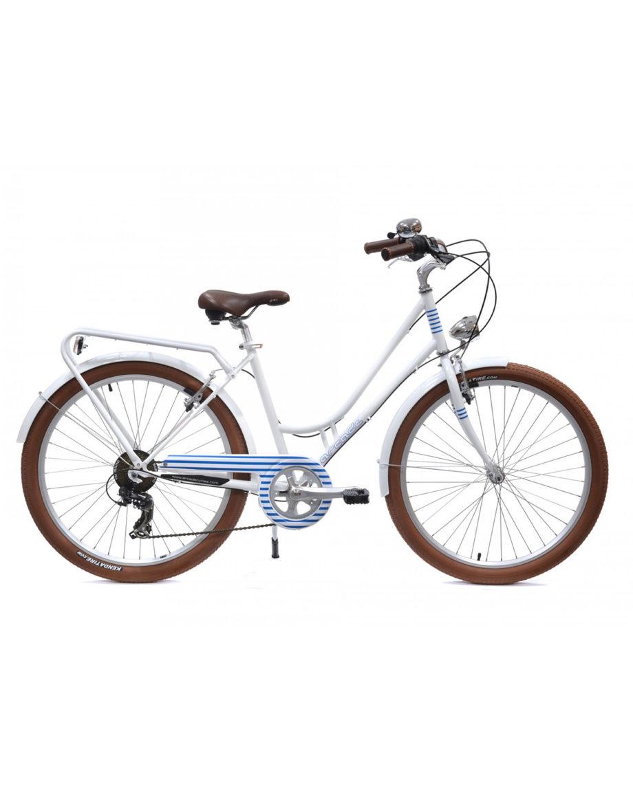 Vélo de ville Renaissance 6 Vitesses fabriqué en France par Arcade Cycles Bleu mariniere