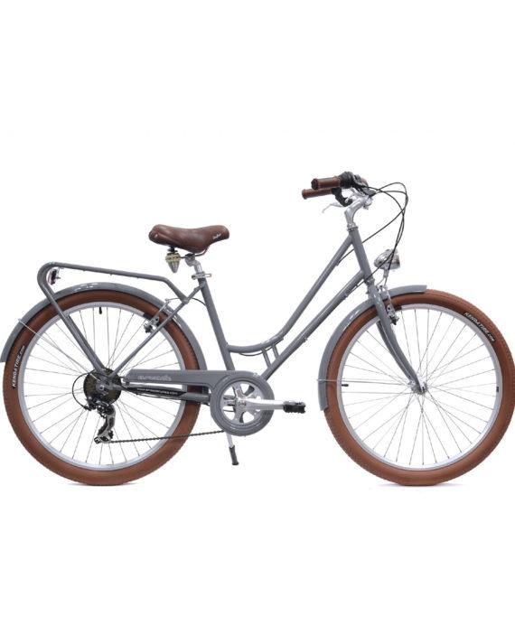 Vélo de ville Renaissance 6 Vitesses fabriqué en France par Arcade Cycles Gris