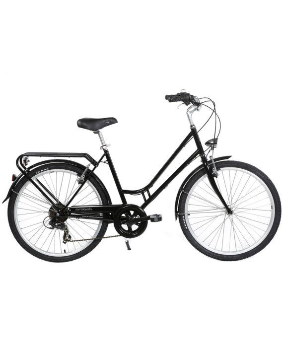 Vélo de ville Renaissance 6 Vitesses fabriqué en France par Arcade Cycles Noir