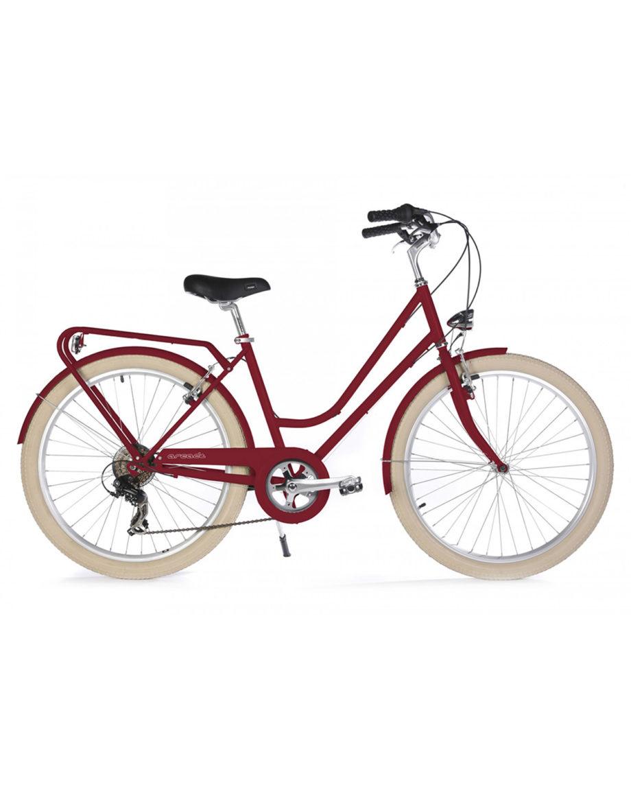 Vélo de ville Renaissance 6 Vitesses fabriqué en France par Arcade Cycles Rouge