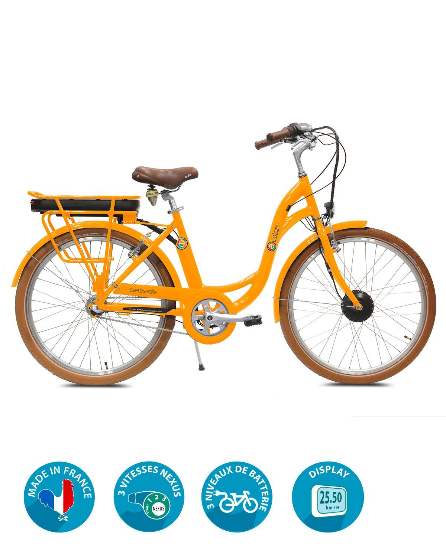 Vélo électrique VAE E-colors 3V Nexus Orange by Arcade Cycles
