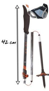 batons de randonnée été hiver connect carbon 5 by tsl outdoor baton rando pliable 42cm