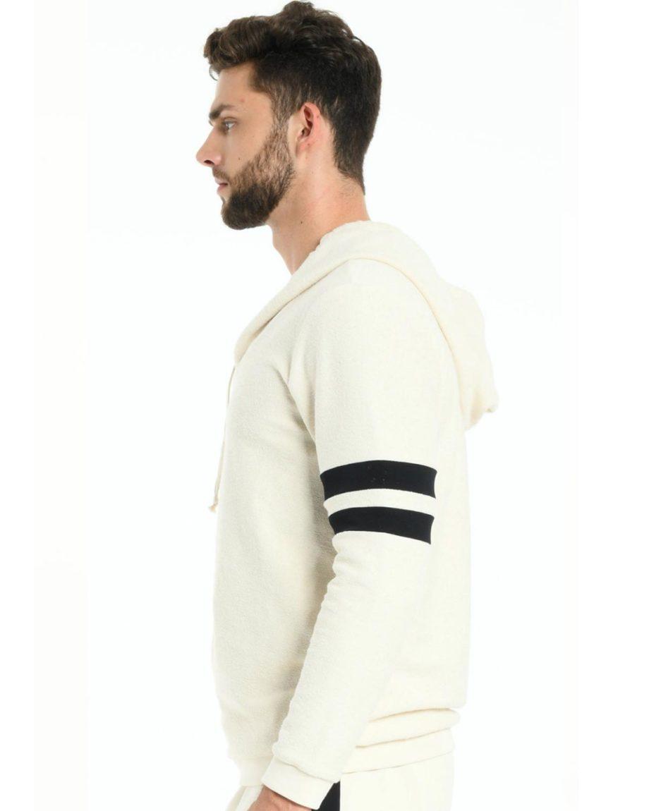 Sweat à capuche en coton bio Blanc pour homme