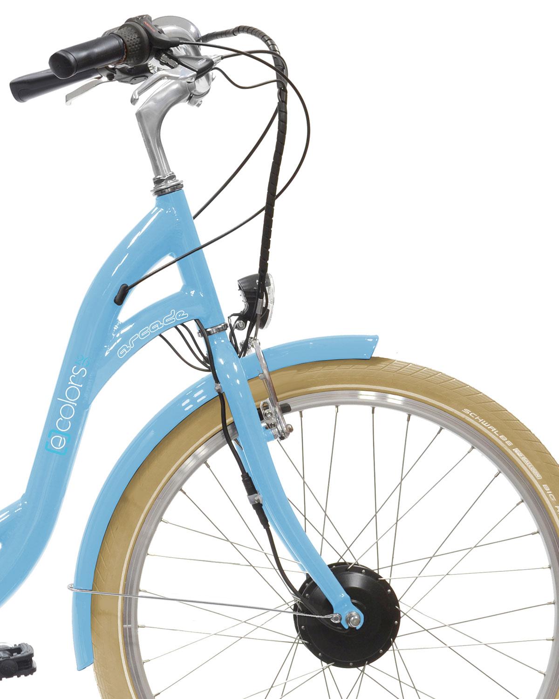 Vélo électrique E-colors bleu 7V Arcade cycles