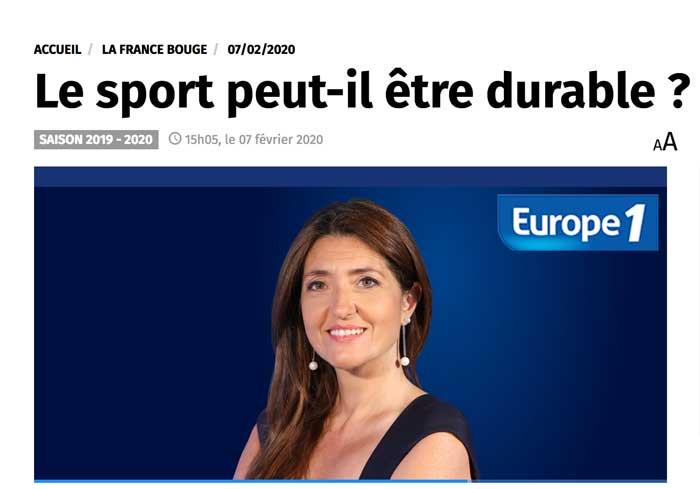 My Green Sport invitée d'Europe 1 La France Bouge présenté par Raphaelle Duchemin