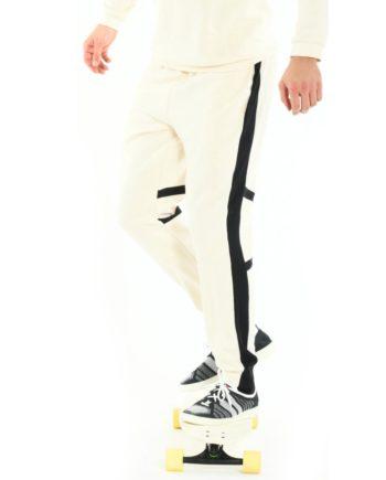 Jogging Blanc en coton bio pour homme