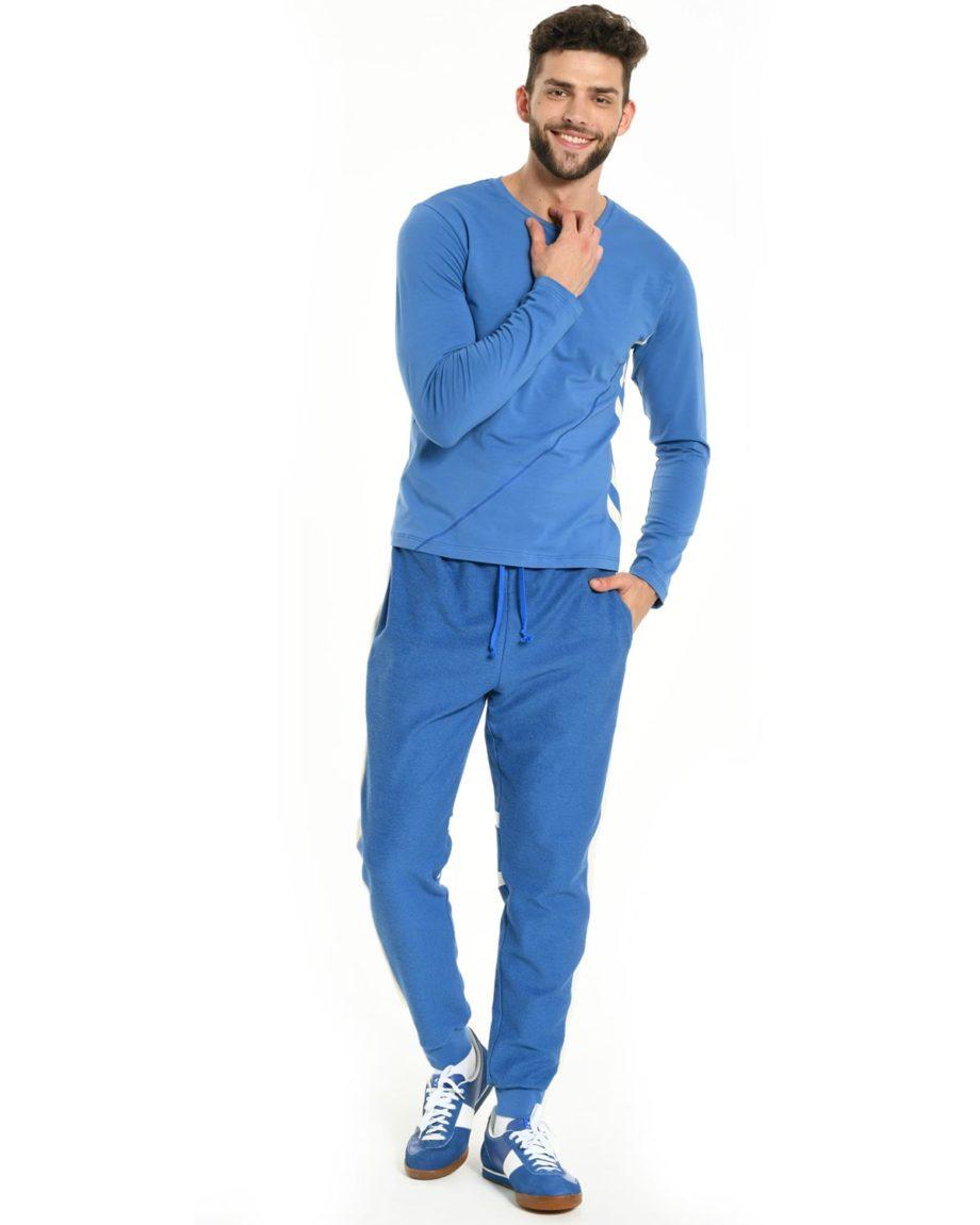 Jogging Bleu en coton bio pour homme B&F