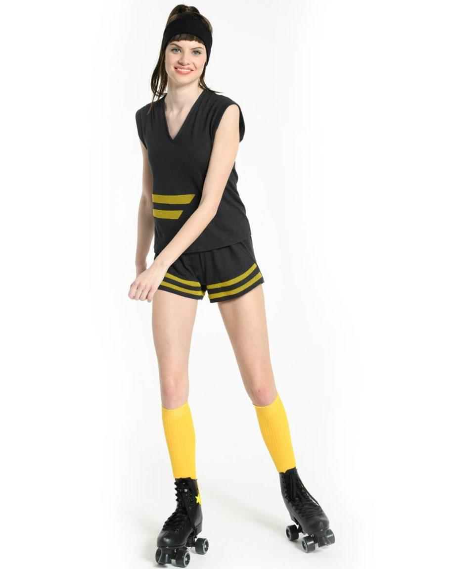 Mini-Short Sport Gris en coton bio pour femme