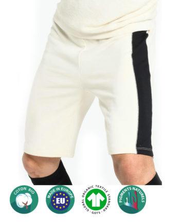 Short Blanc en coton bio pour homme
