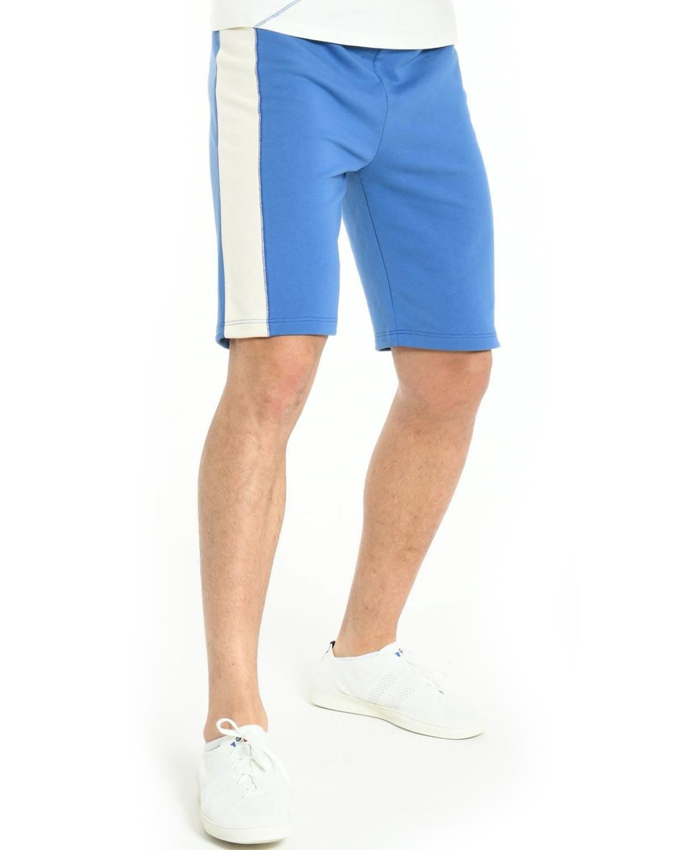 Short Bleu en coton bio pour homme B\u002