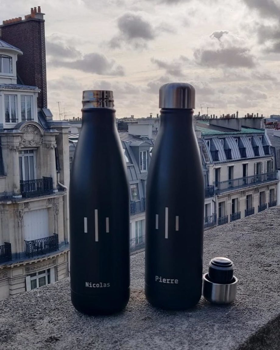 Gourde isotherme inox personnalisable sans BPA