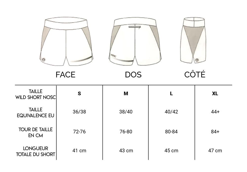 Taills short Nosc running