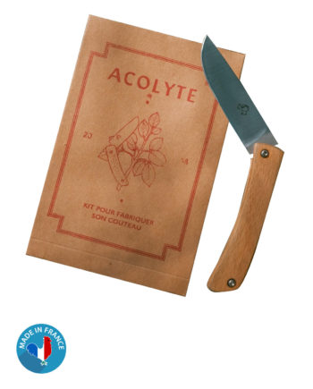 Couteau en Hêtre à monter soi-même fabriqué en France