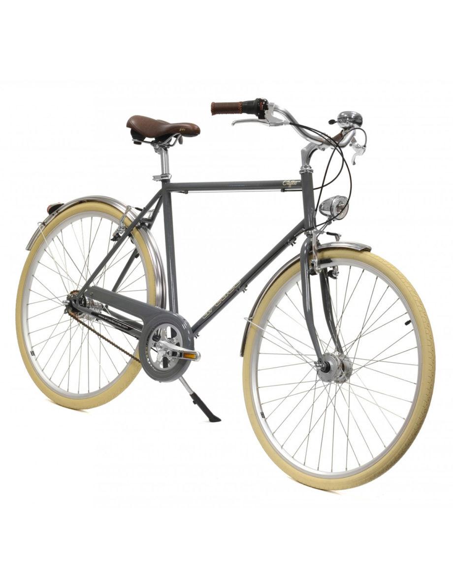 Vélo de ville coffee 5V Sturmey gris Homme by Arcade Cycles