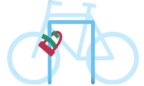 bien placer son cadenas antivol de vélo