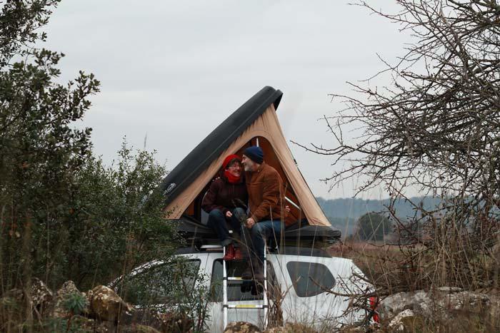 Tente de toit duo Naitup pour 2 personnes, fabriquée en France