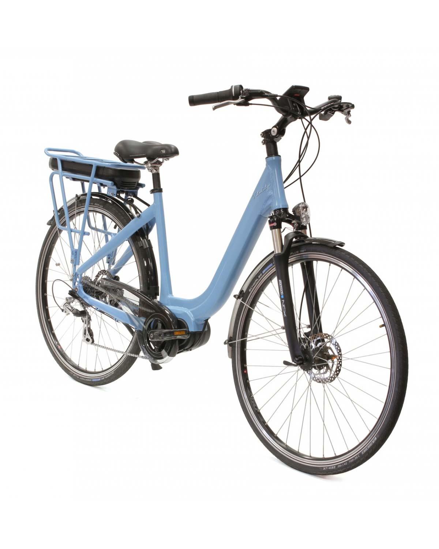 """Vélo électrique Vitality Vintage 28"""" Bleu by Arcade Cycles moteur central fabriqué en France"""
