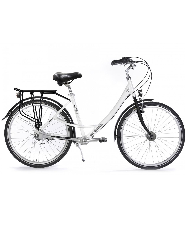 Vélo de ville à cardan Backstreet by Arcade Cycles sur My Green Sport Blanc modèle 2020