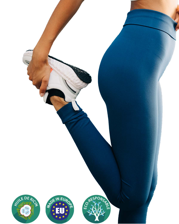 legging yoga femme bleu greenfil nosc