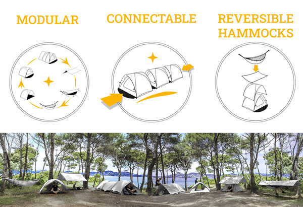 Tente 2 places Beluga Eco-responsable et modulable